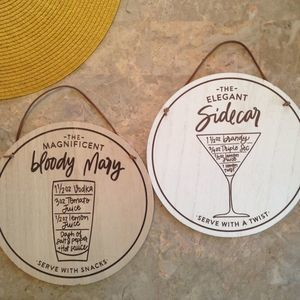 Wall signs for wet bar or farmhouse kitchen decor